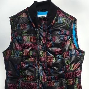 Aeropostale Puffer Vest New York Black